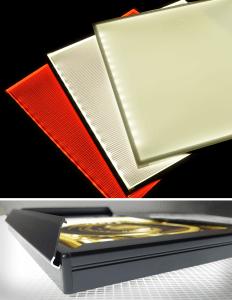 LED Light Panel, Edge-lit, Light Box, UL. Custom made for backlighting photography, stone, onyx, glass, store displays