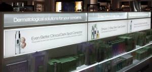 LED Light Panel used to back light graphics in a store display