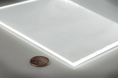 Thin edge-lit LED light panel for backlighting
