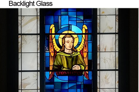 Backing stained glass